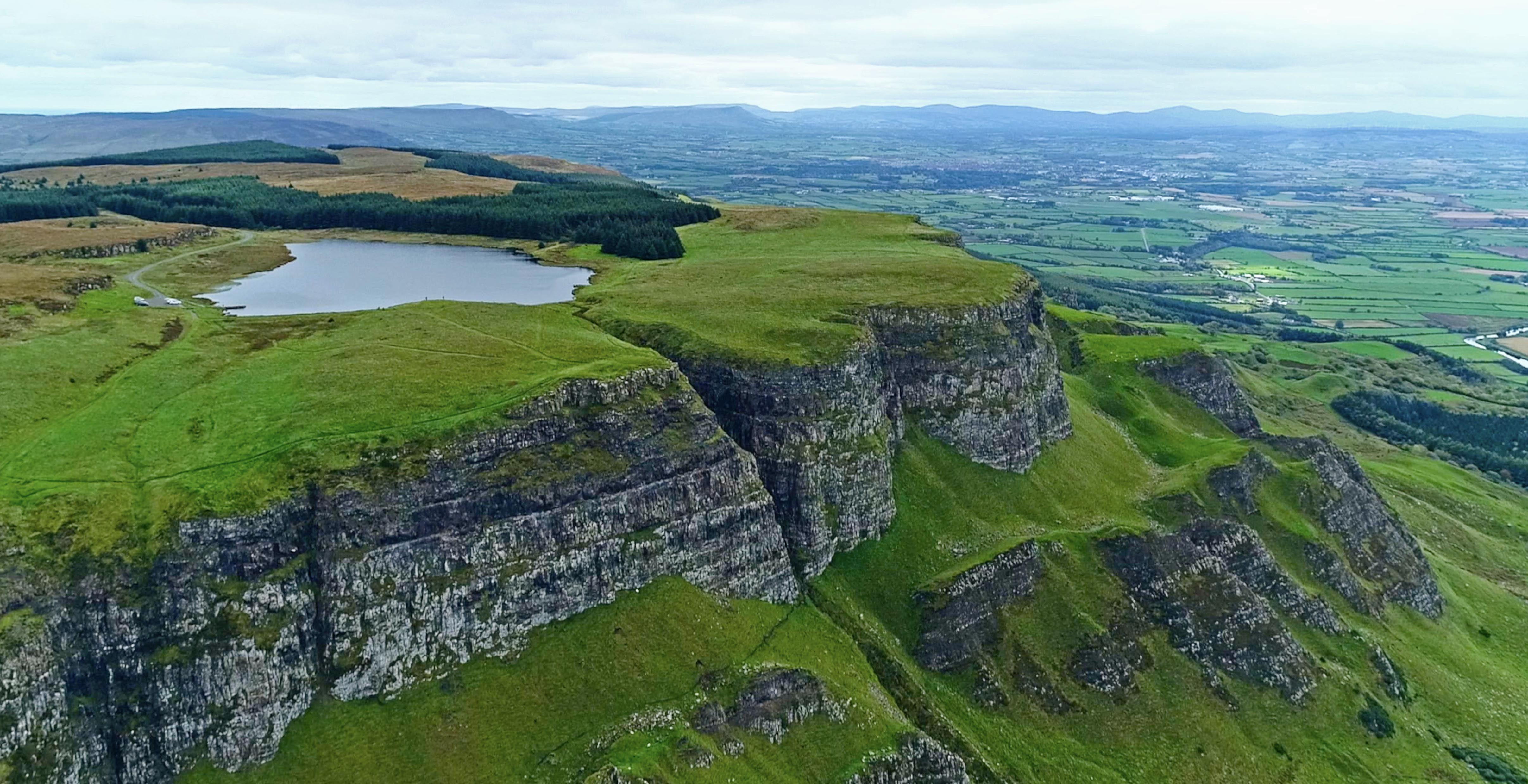 Photo of Binevenagh Lake in Northern Ireland, offers rainbow trout fishing