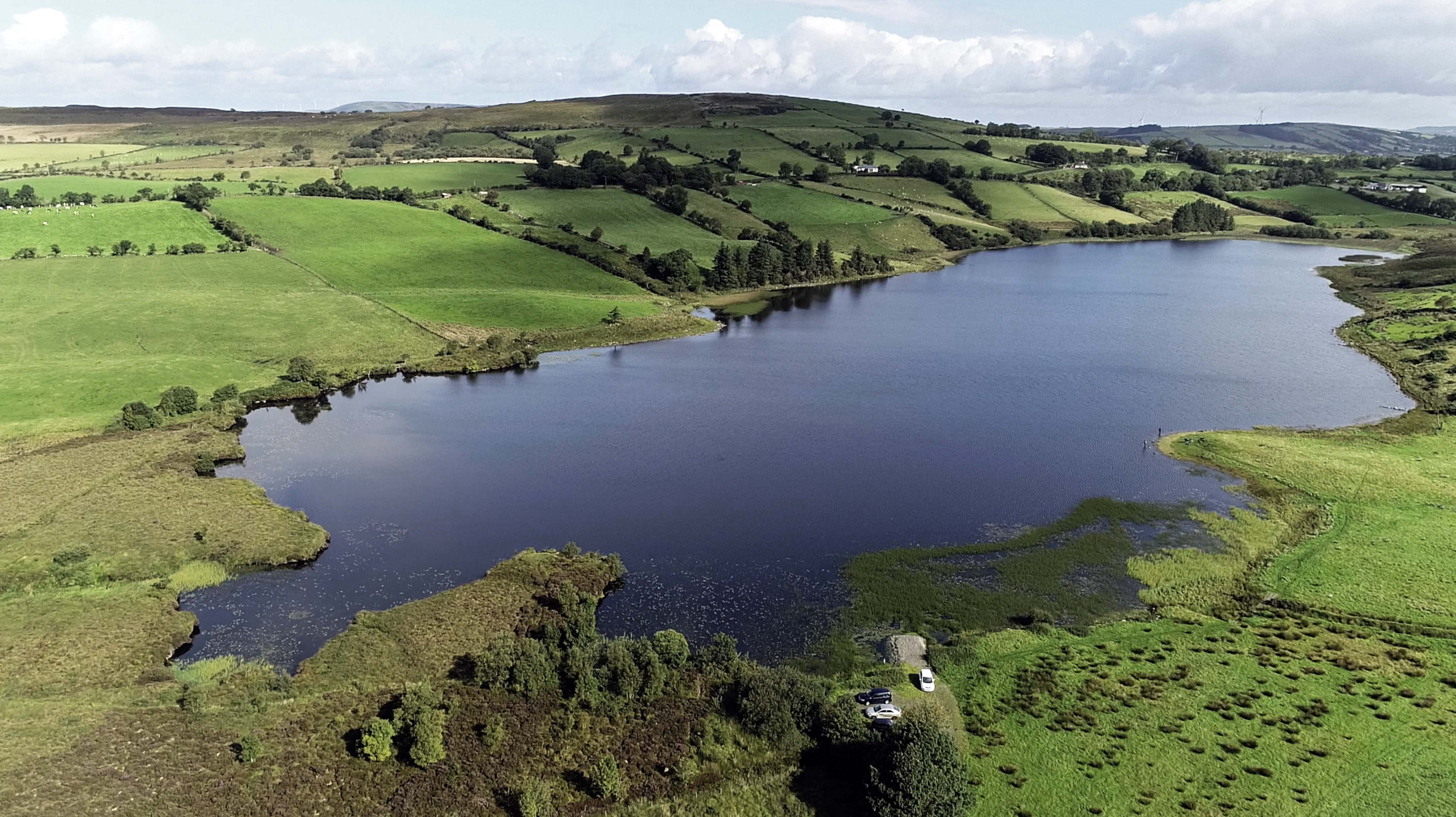 Photo of Lough Ash in Northern Ireland where you can fish for brown trout