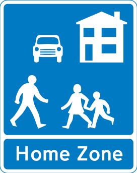 Image of a Home Zone sign