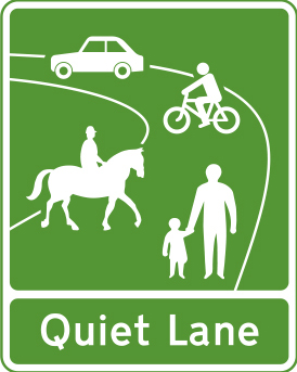 Image of a Quiet Lane sign