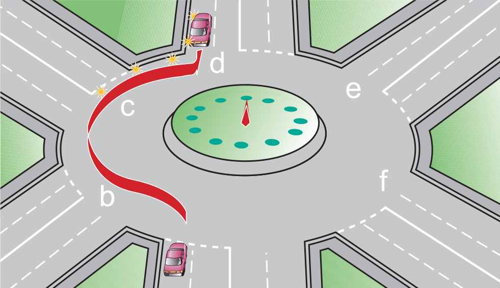 How to take the third exit at a roundabout