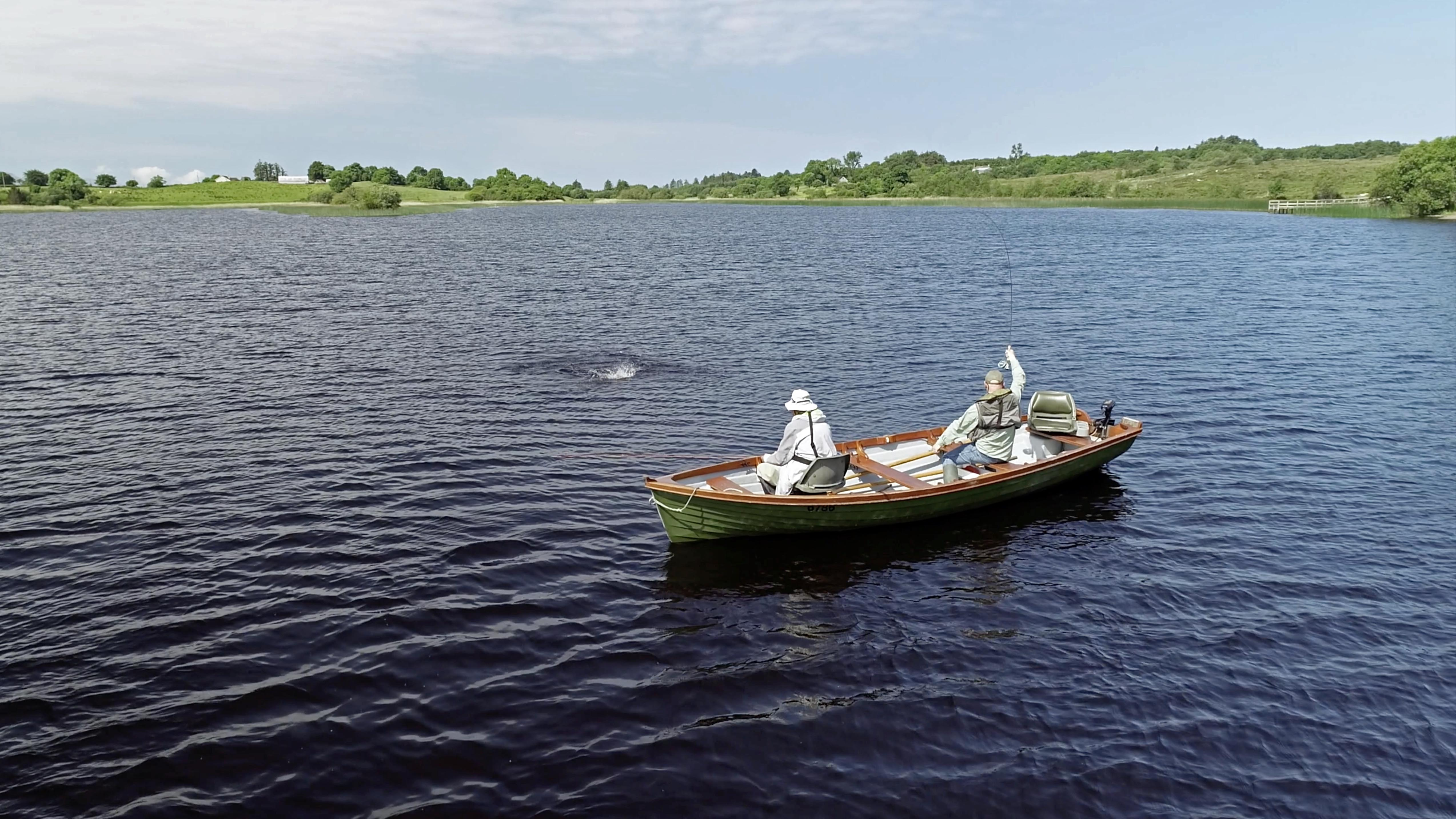 Photo of Lough Keenaghan in Northern Ireland, offers fly fishing only for brown trout