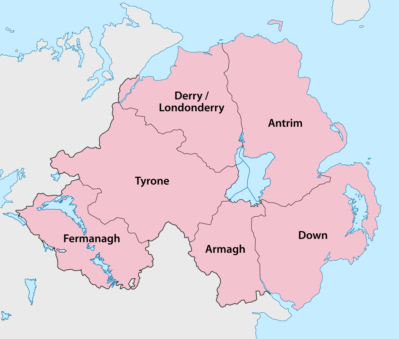 Northern Ireland Counties