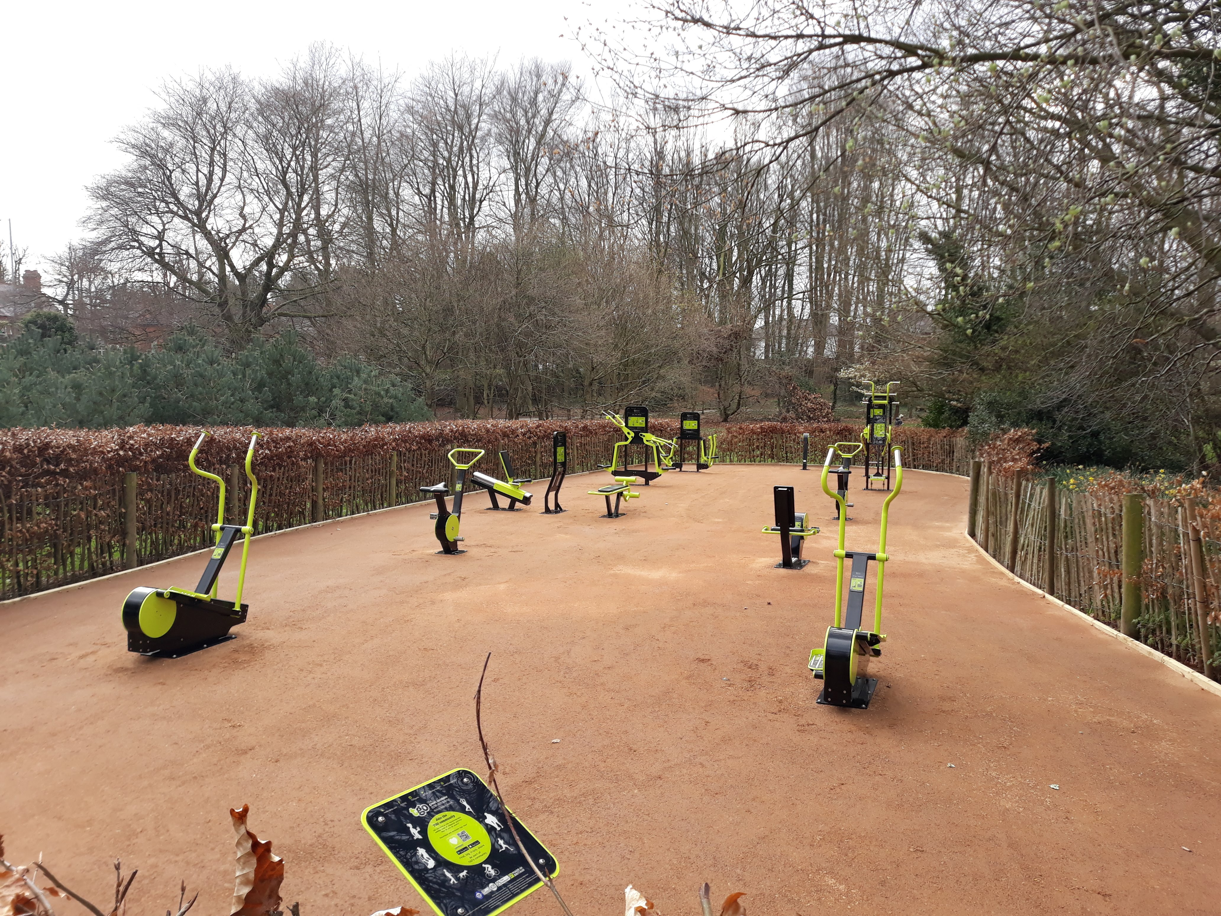Photo of the new outdoor gym at Stormont Estate, Belfast, Northern Ireland