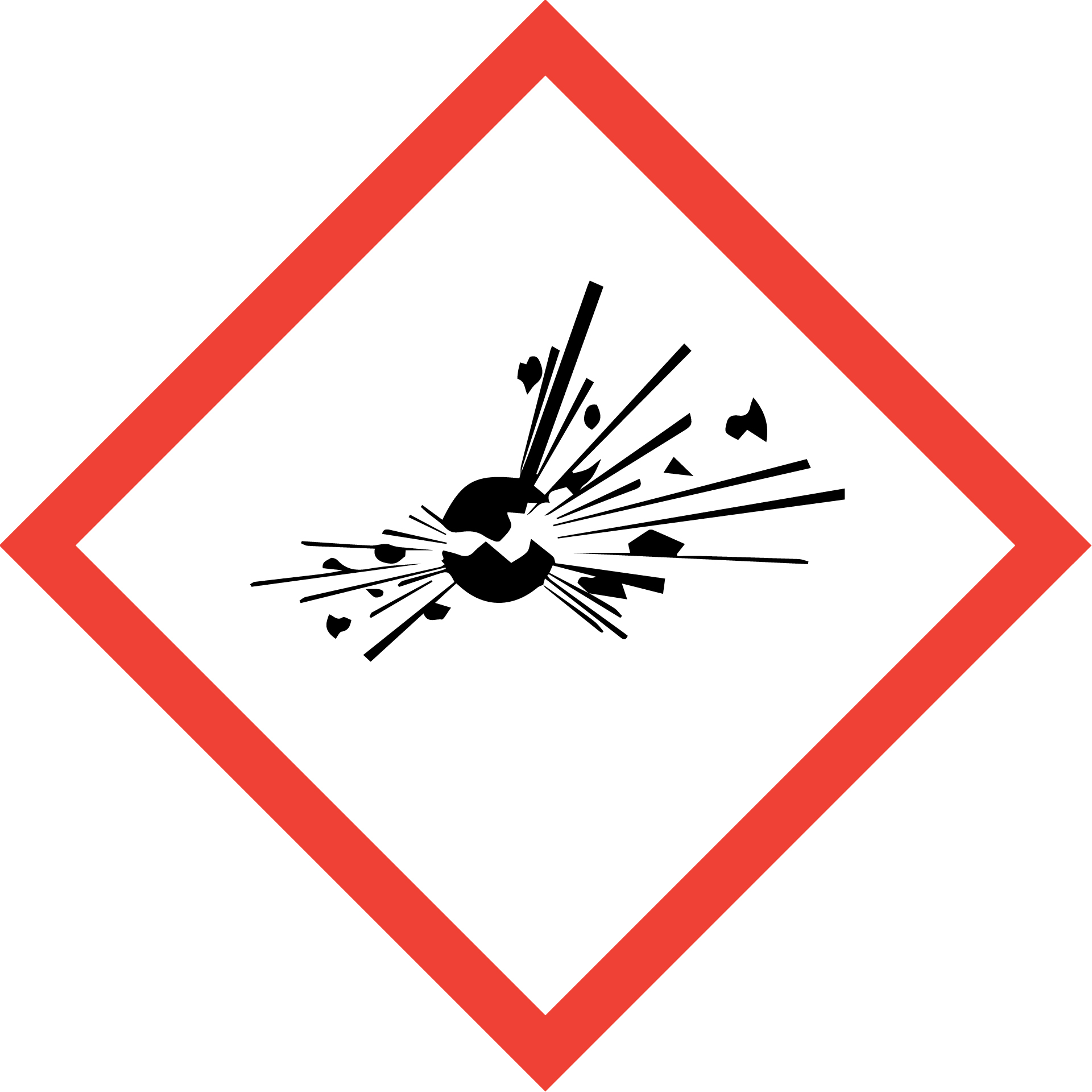 Chemical symbol for explosive