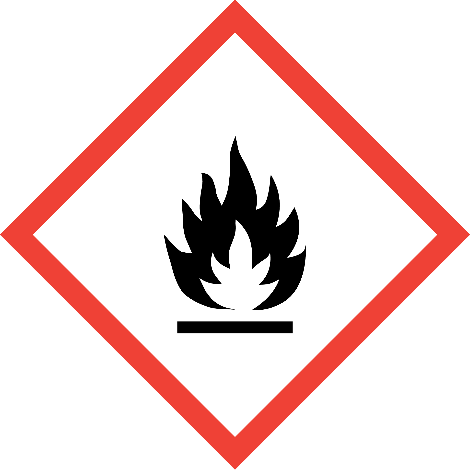 Chemical symbol for flammable